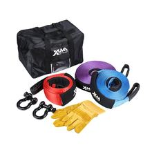 4WD recovery kit custom 4x4 snatch strap heavy duty tow recovery strap with shackles kit
