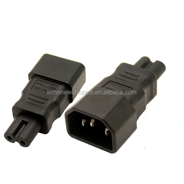 IEC C14 3 prong plug to C7 2 prong receptacle