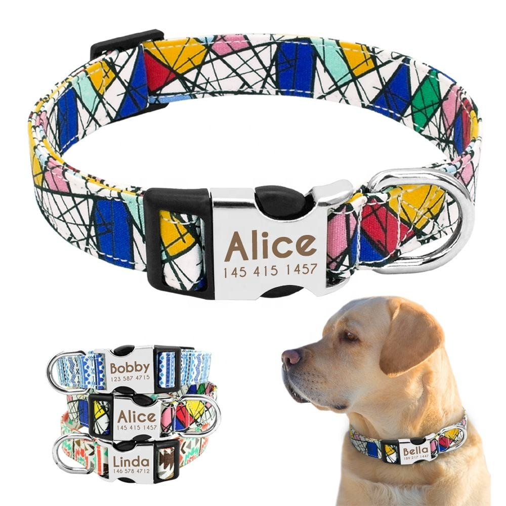 Didog Hot Sale Personalized Puppy Dog Collar Engrave Name ID Collar Para Perro For Pets