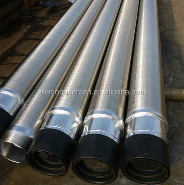 8''5/8(219mm) 1.0mm slot 25/50bar Stainless steel Wedge wire wrapped continuous slot water well screen