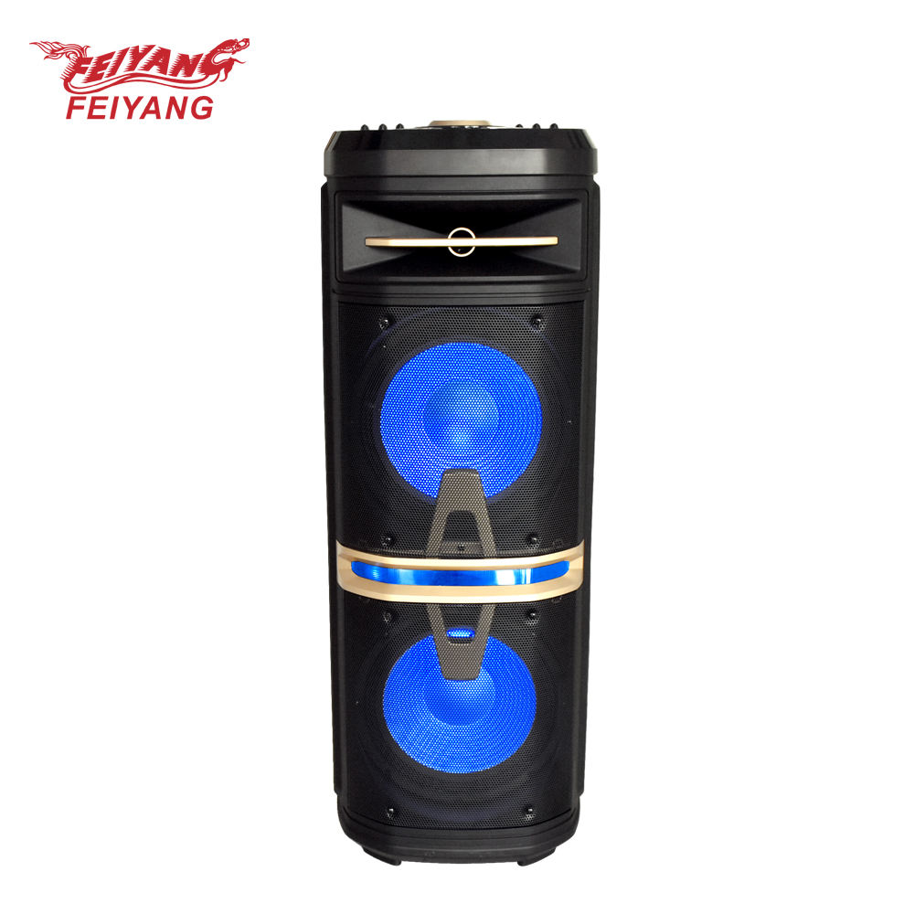 Feiyang Double 10 inch 2*10 subwoofer speaker 120W rechargeable bluetooth speaker big power very good sound
