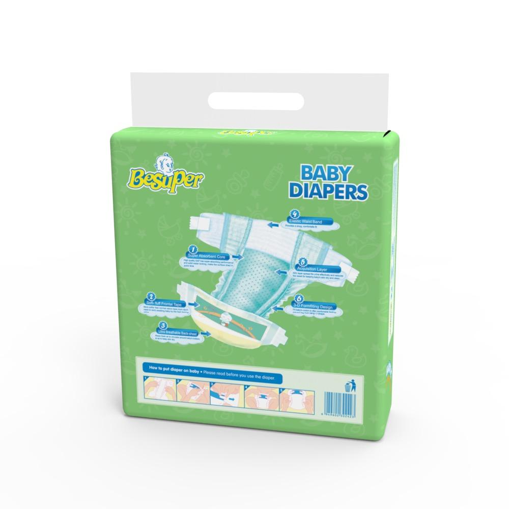 Baled Diapers Comfy Adult Diapers And Baby Diapers In Bales In Diaper Manufacturing Plant