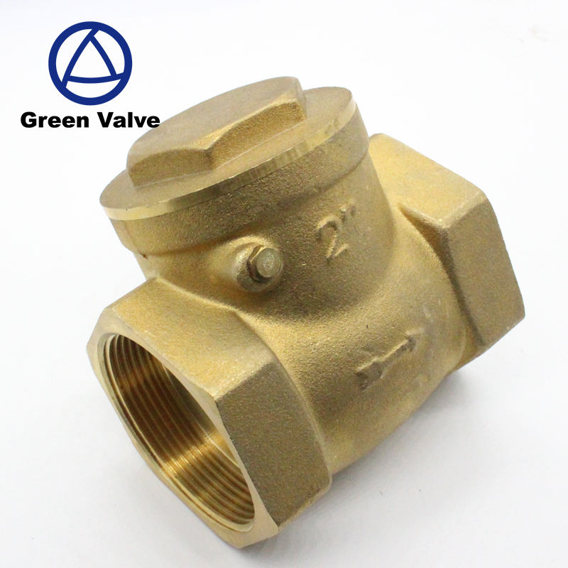 "Brass non-return valve hot cold water 1/""bsp NRV100"