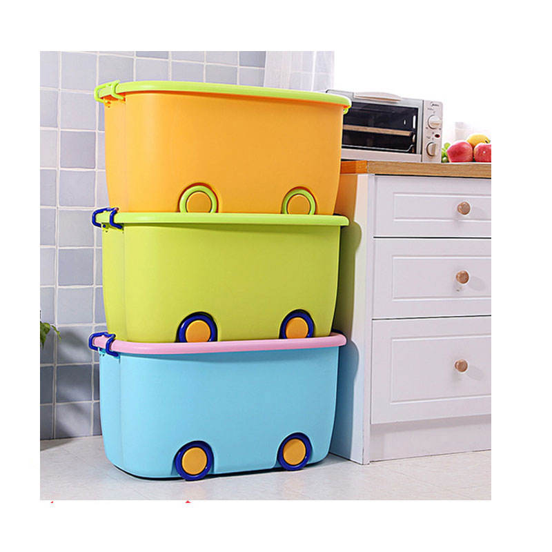 Cute Colorful Waterproof Kids Car Stackable Plastic Transport Clothes Toy Box Storage