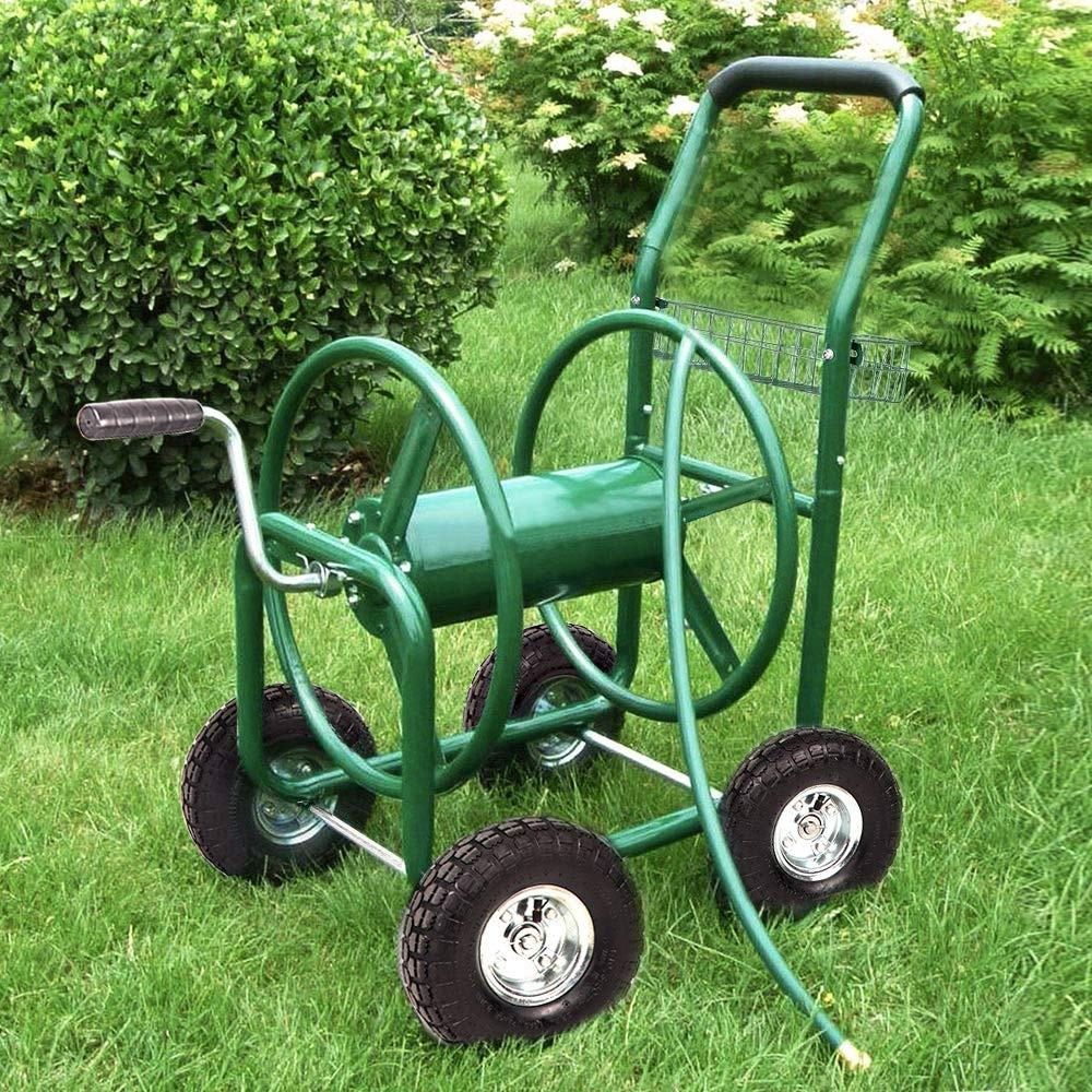 Garden Water Hose Reel Cart Garden CartとHeavy Duty 300FT Hose Yard Water Planting