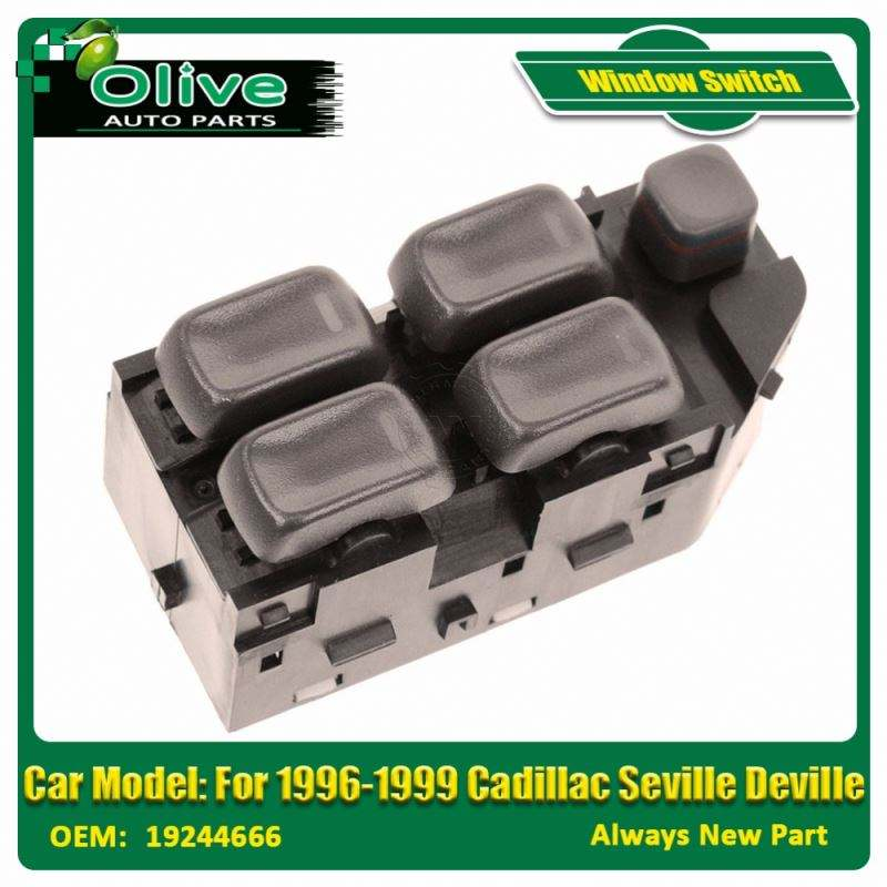 Master Power Window Switch Brown Front Driver Left for Cadillac Seville Deville