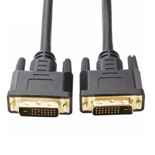 Gold Plated High Resolution dvi cable Black color  DVI 24+1 24+5 Cable male to male customize size 1meter 2meter 5meter