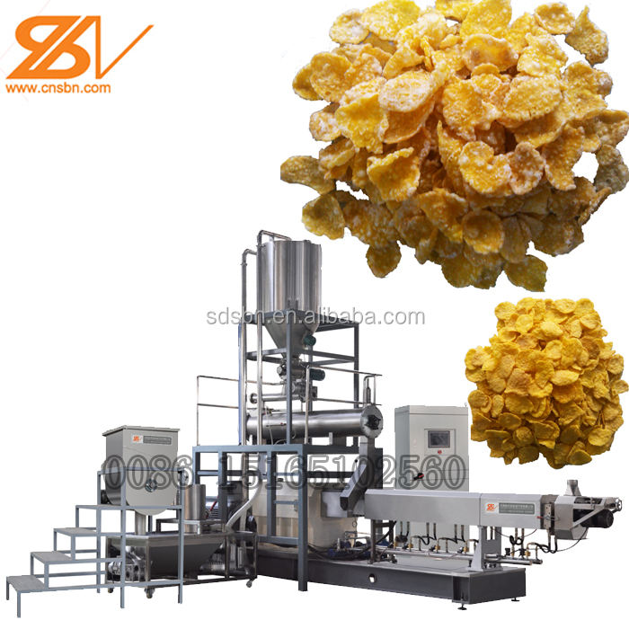Jinan Saibainuo Breakfast Cereals Corn Flakes Production Machine Line