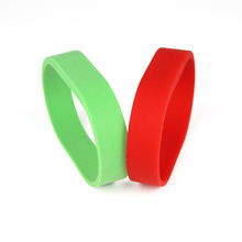 Wholesale HF Passive ISO14443A 13.56MHz NFC RFID Silicone Wristband/Bracelet