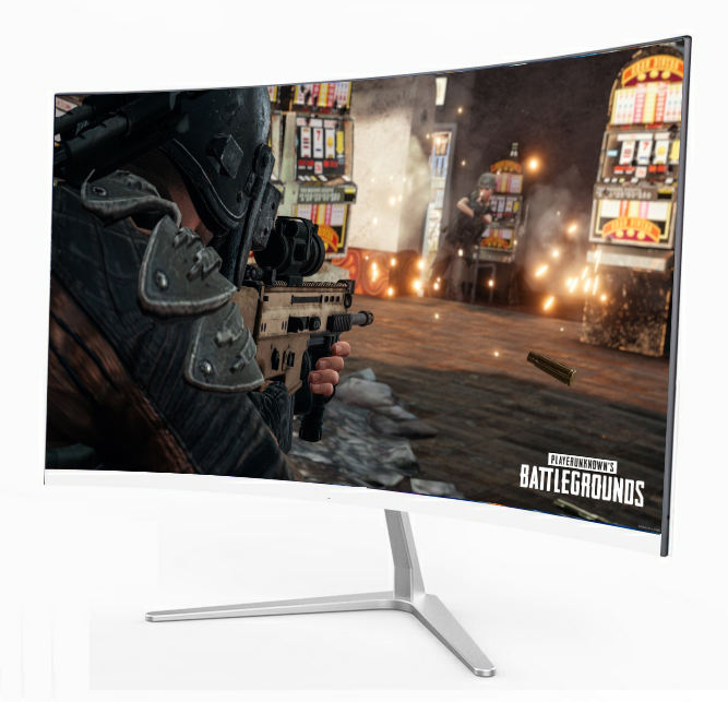 2019 New Ultra Thin Full HD 1K 24 inch IPS Panel LED Curved Frameless computer Monitor