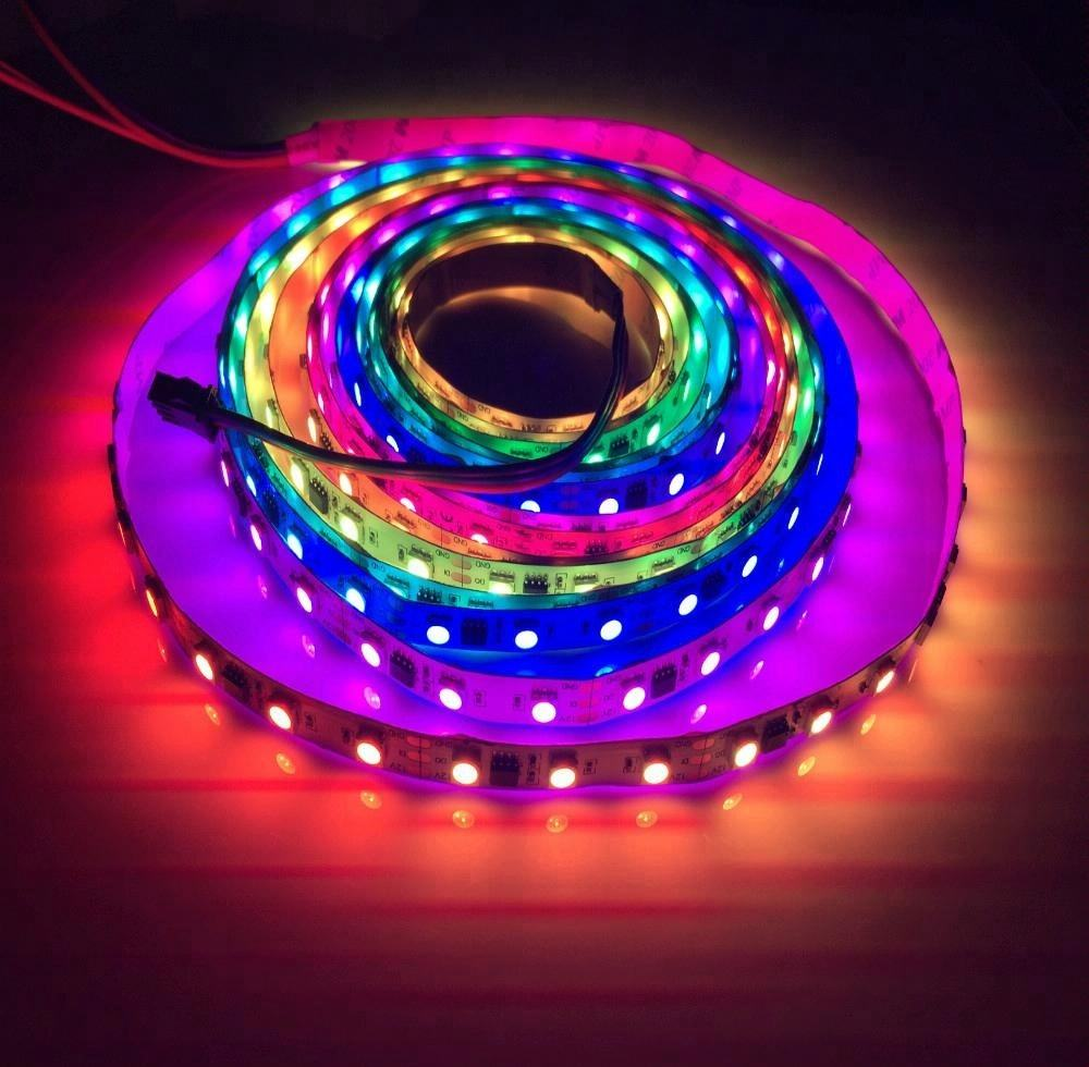 China supplier ws2811 smd 5050 addressable rgb led strip 12v 60leds 14.4W 20IC / m every 3 leds with one IC