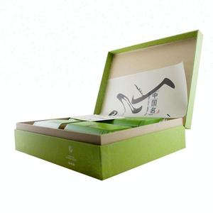 Recycled Green Flip Top Paper Packaging Tea Box
