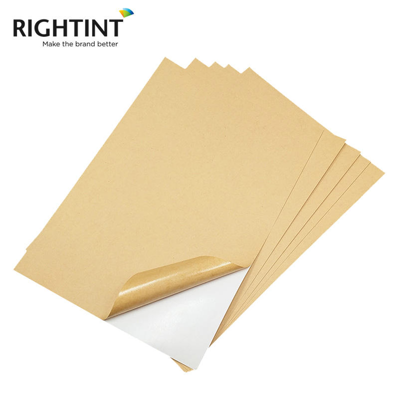 A4 Label Adhesive Vellum Kraft Paper For Laser / Inkjet Printer