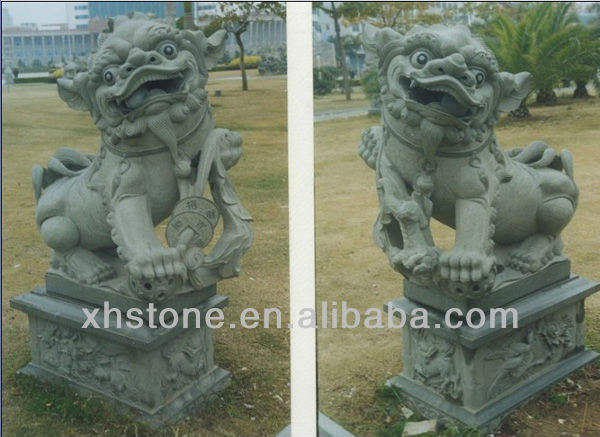 Green Stone Lion Statue on Hot Sale