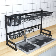 Amazon Hot Sale Stainless Steel Dish Drying Rack Over The Sink Drying Multipurpose Dish Rack