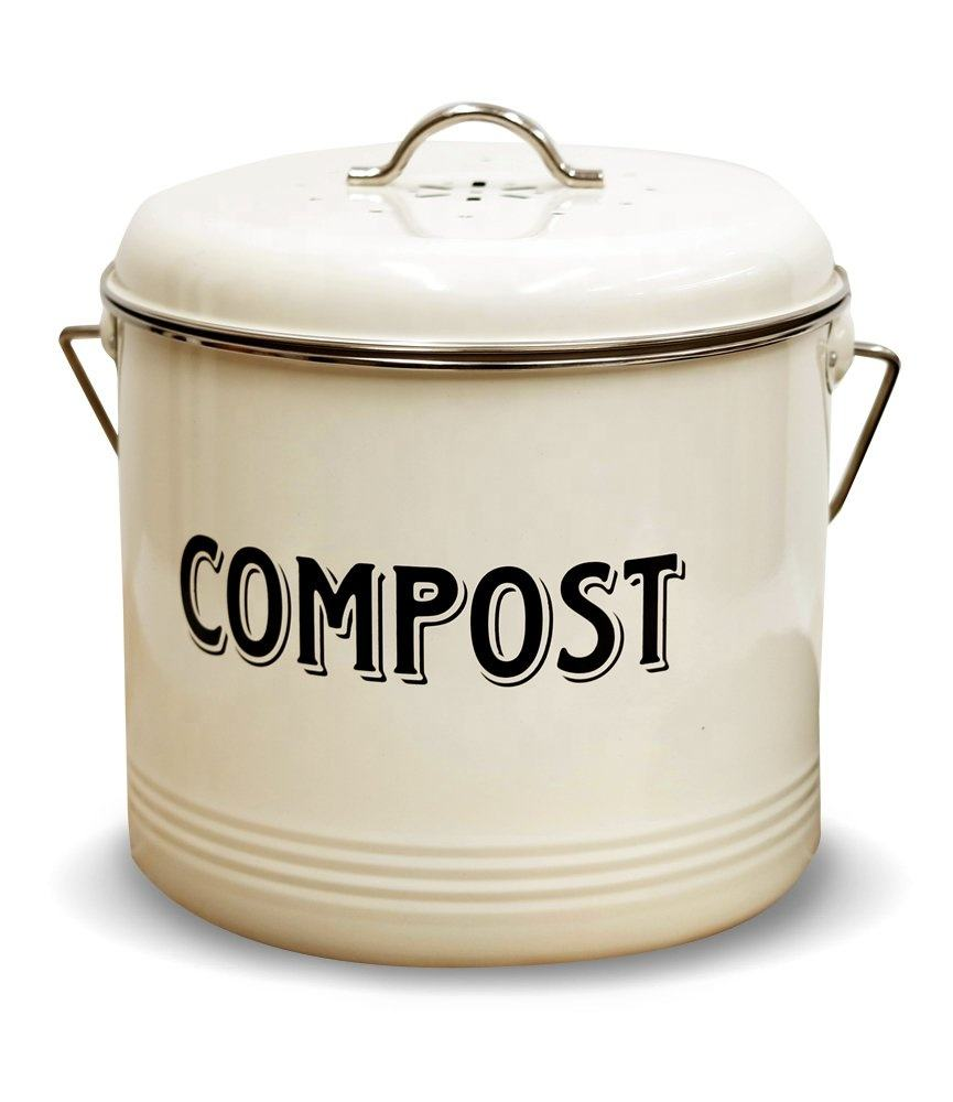 5-Liter ;Kitchen Compost bin; Including Carbon filter,Trash Container Bucket, Recycling Caddy