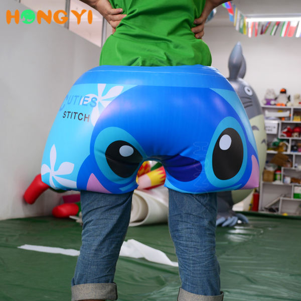 Custom design cartoon inflatable clothes pvc inflatable swimming pants