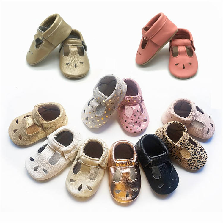 Newborn Infant Leather Baby Shoes Genuine Leather Handmade Baby Moccasins Shoes Soft Sole Baby Girls Shoes