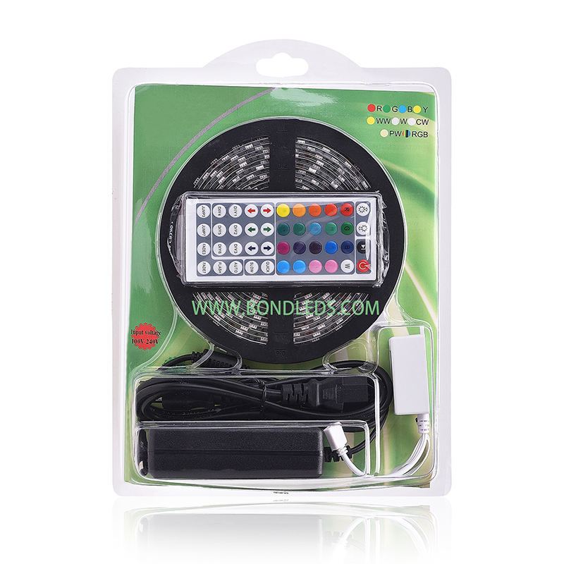 5 m led strip 5050 rgb ip20 300 led tape 빛 kit 44 키 Remote led strip 빛 kit 12 v 6A 5050 Kit Led Strip