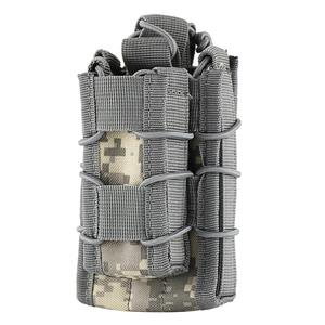 MOLLE Tactical Open Top Dubbeldekker Single Rifle Pistol Mag Pouch Cartridge Clip Pouch