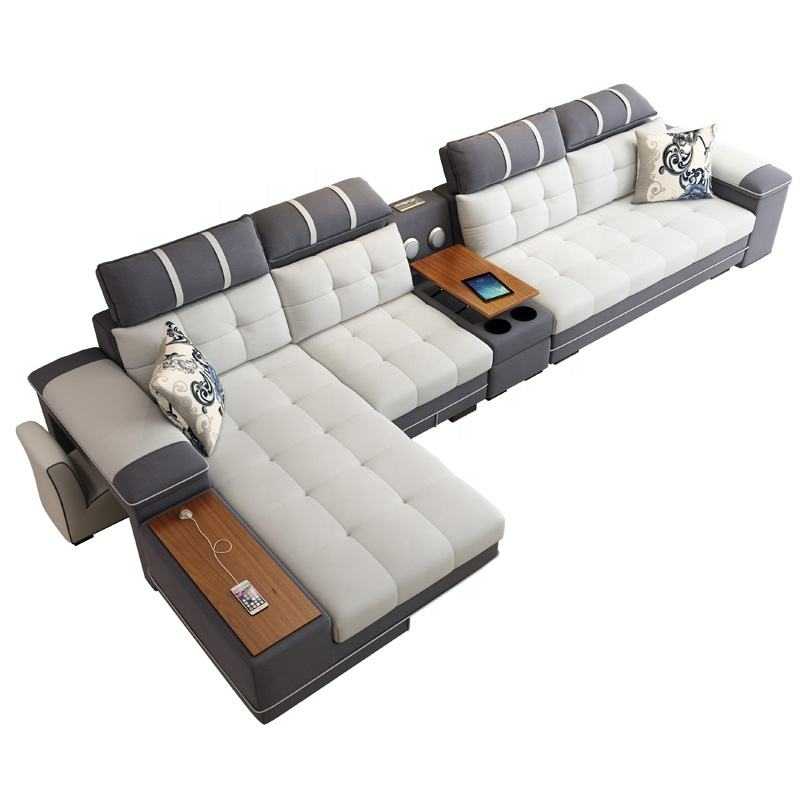 Modern Customizable and Reconfigurable Sectional Living Room Combination Sofa Set 7 Seater Corner Sofa