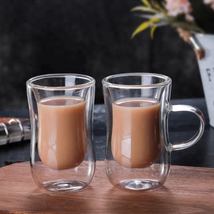 Factory Supply Clear Turkse Double Wall Koffie Cups