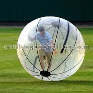 wholesale inflatable hamster ball for adults, walk in plastic bubble ball