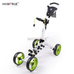 Hot Sale  Golf Trolley Four  -Wheel Trolleys  For Sale   &   4 wheel push golf    trolley