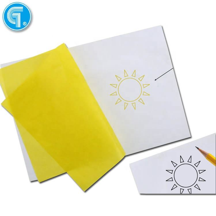 100 sheets high quality carbon tracing paper a4 types of yellow carbon paper thickness