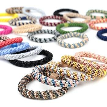 CLARMER New Arrived Simples Fashion Colorful Rubber Korean Elastic Hair Ring Kknekki Hair Ties Elastic Hair Band For Women