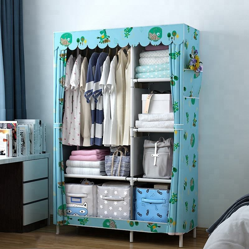 Large reinforced non-woven cabinet combined wardrobe for bedroom wardrobe