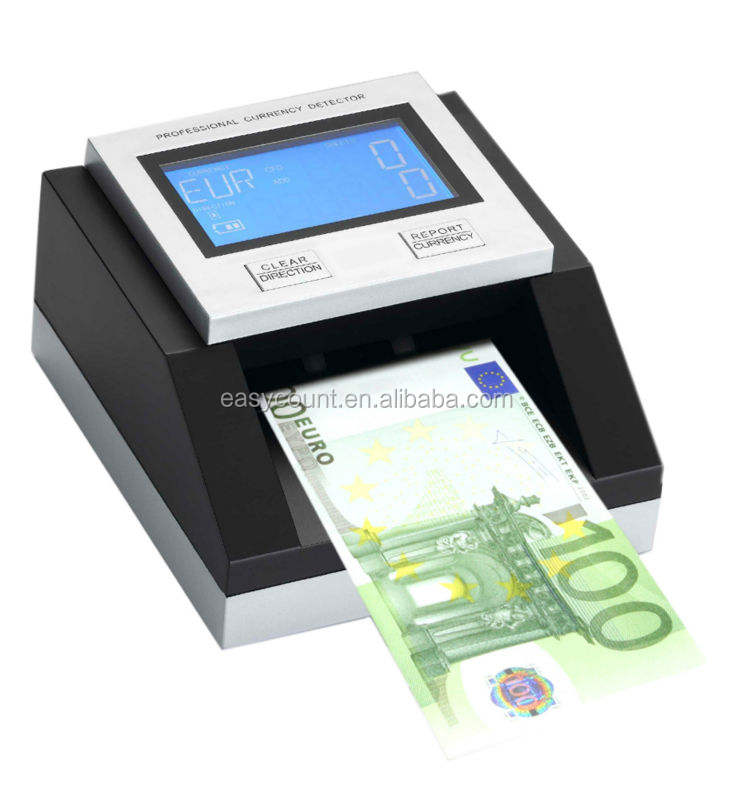 ECB tested EC350 Professional Multi counterfeit money detector,banknote counter,currency detector