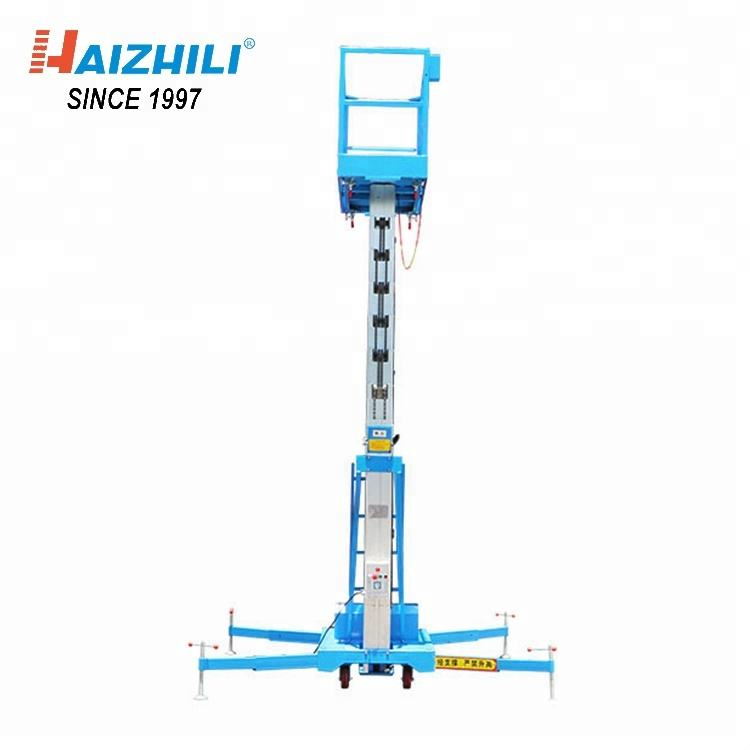 Ultra Light Electric Elevator 125KG 8M Aluminum Work Platform