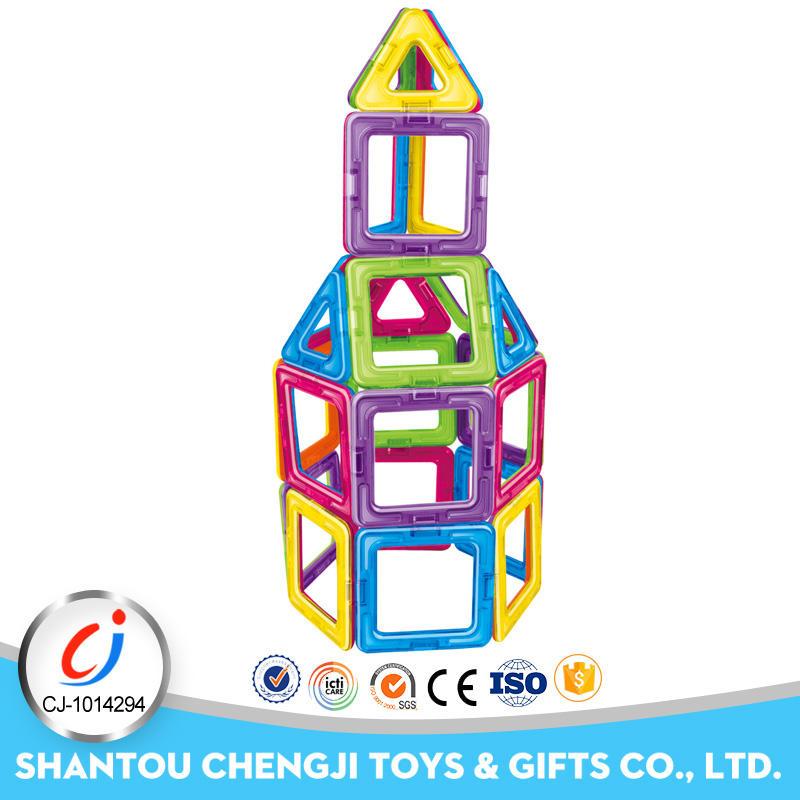 2017 nueva blocksl fichas magnéticas de construcción de montaje de plástico para niños
