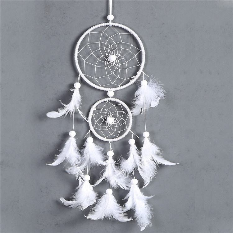 IED-119 Wholesale supplie White Feather Indian Dream Catcher for Home Decoration
