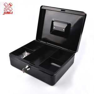 Wholesale quality custom color safe key locking deposit durable portable money tray metal cash box .
