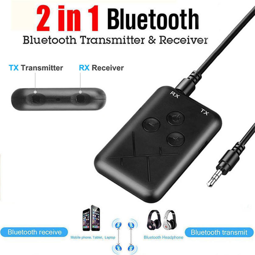 Universal 2 1でWireless Bluetooth 4.2 Receiver Transmitter A2DP Audio 3.5MM AUX Stereo Adapter For TV PC Speaker