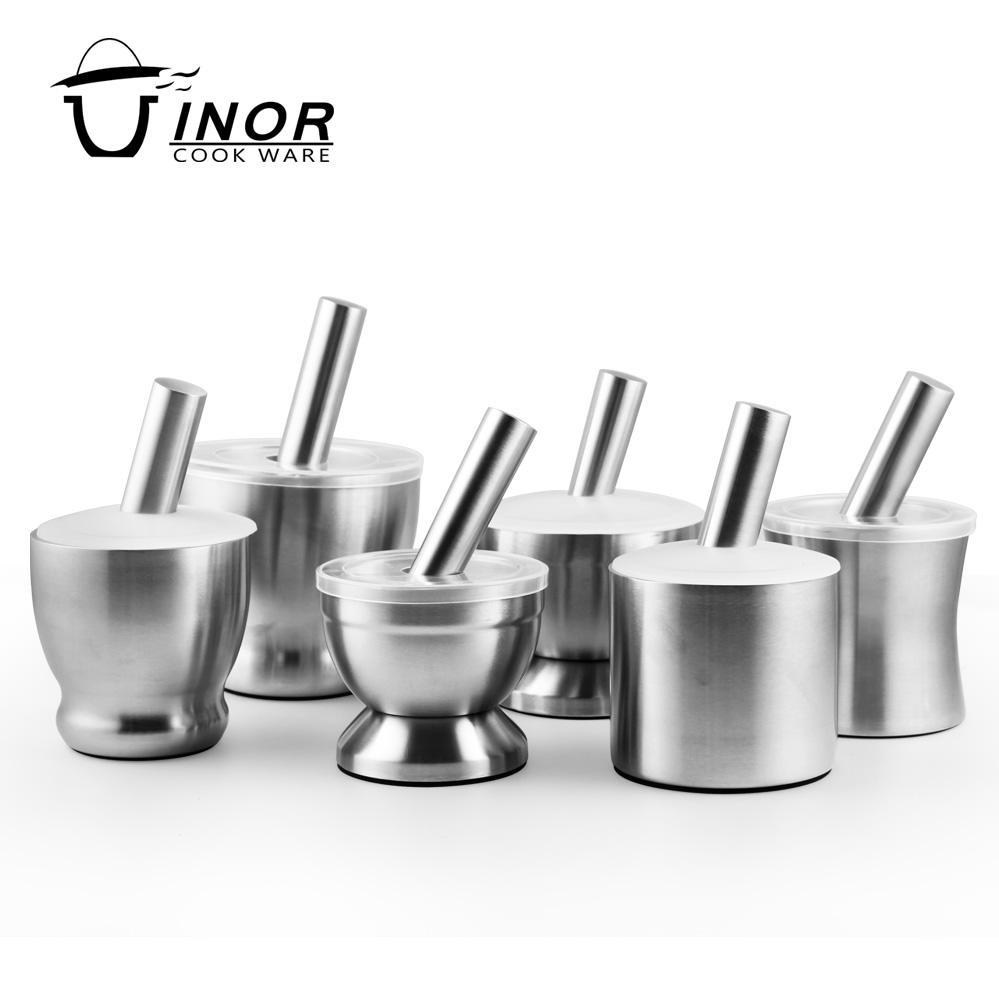 stainless steel mortar and pestle set with custom logo for sale