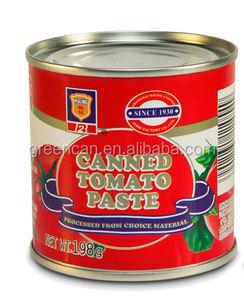トマトペーストでスチールドラム、トマトペースト缶