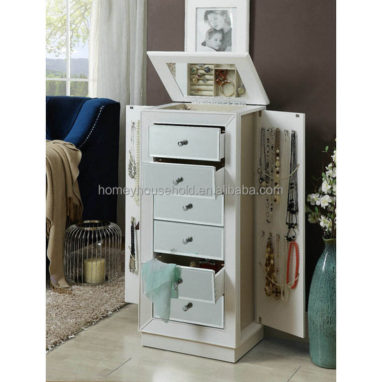 Home Furniture Mirror Dresser Normandy Jewelry Armoire Lid With Mirror