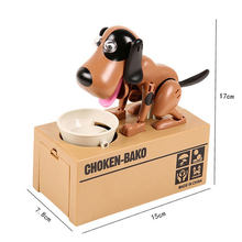 Xiaoboxing China wholesale factory plastic piggy toy hungry eat coin choken-bako dog electricity saving box coin bank