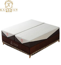 Factory wholesale electric adjustable bed memory foam mattress spilt super king size