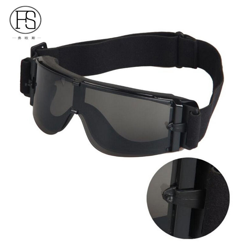 Tactical Military Airsoft Glasses Combat Eye Protection Hunting Glasses X800