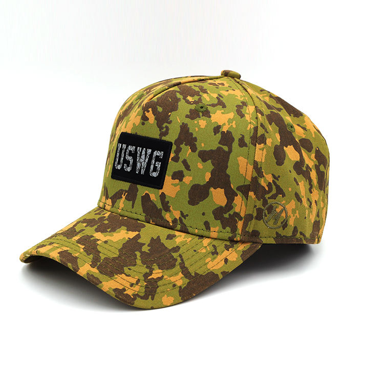 Woven Label Logo Construction Hard Baseball Hat Camo