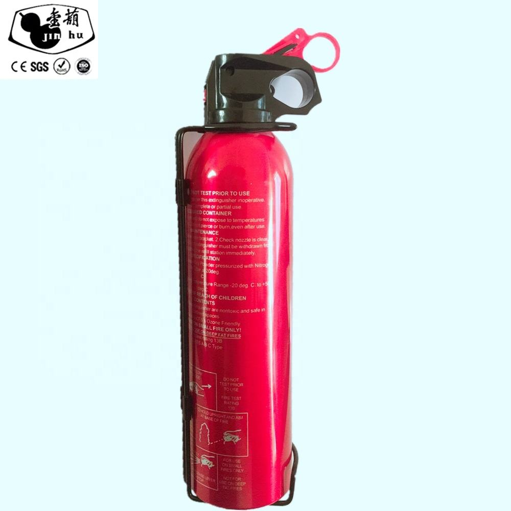 factory wholesale car mini fire extinguisher /500ml 600ml 1kg car fire fighting/safety fire extinguisher ABC dry chemical powder