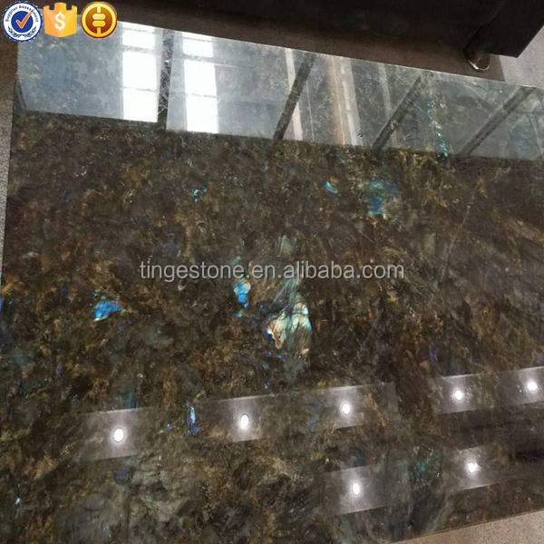 Luxury Madagascar Labradorite blue granite for wall decoration