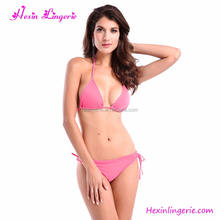 Wholesale Hot Sexy Bikini Dance Teen Transparent String Bikini Pink
