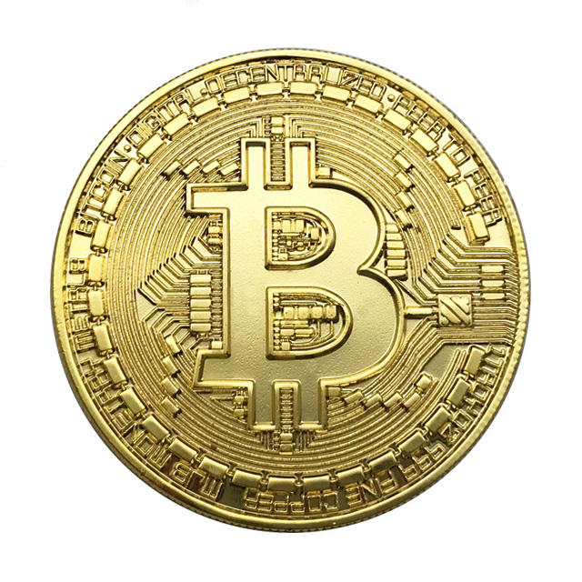Custom Souvenir Metal Bitcoin Coin Gold Bitcoin