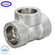 Sfenry Forged Pipe Fitting A182 F304 ASME B16.11 Stainless Steel Socket Weld Tee