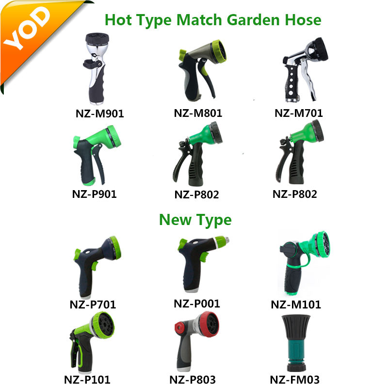 Plastic Garden Hose Water Spray Nozzle Cleaning